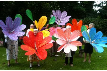 Big carnival flowers by the Devizes Group