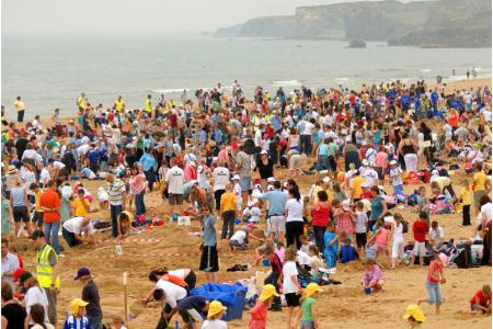 Annual Children North East Sandcastle Challenge