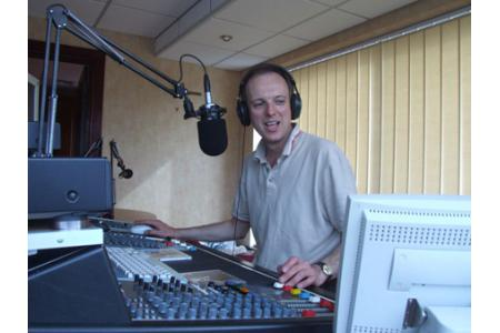 Presenter Lance England on air