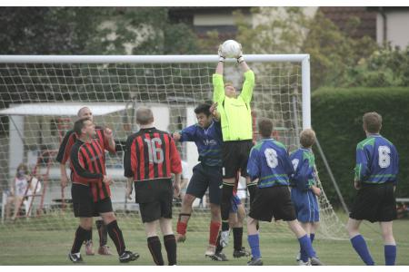 BUFC goalies saves the day against village team