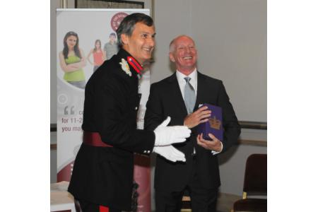 Receiving Queen's Award for Volunteering 2011