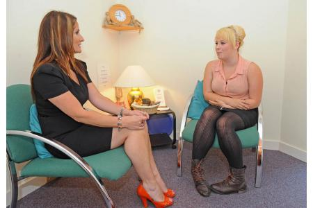 Counselling session courtesy The News, Portsmouth