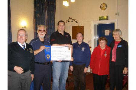Presentation of Cheque to St Dunan's Charity