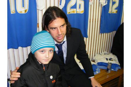 Callum with one of our ambassadors George Boyd