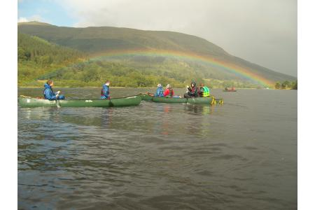 recent canoeing trip to scotland