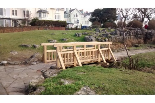 Restoration of Bridge in Beach Lawn Garden