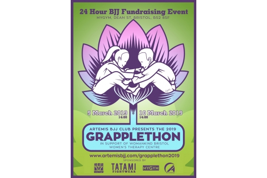 Grapplethon fundraising for Womankind!