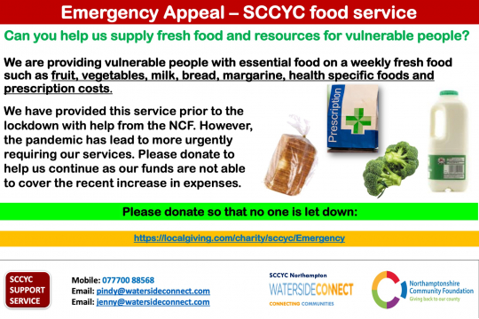 Emergency Appeal - SCCYC food service