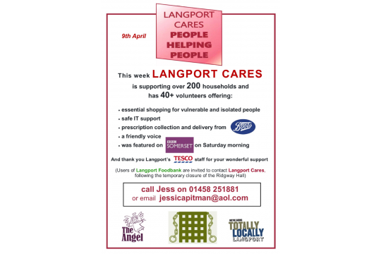 Langport Cares COVID - 19 Appeal for our vulnerable people