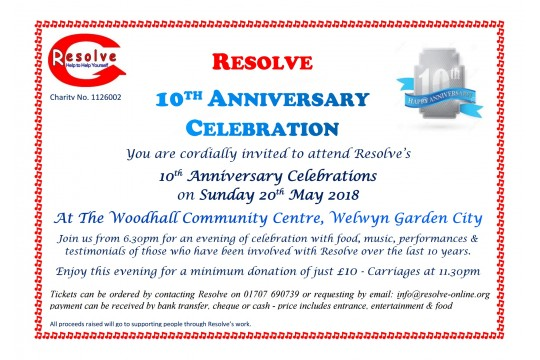 10th Anniversary Celebration - An evening of acts & musical entertainment